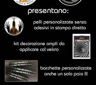 Pelli, Bacchette, Merchandising Personalizzato
